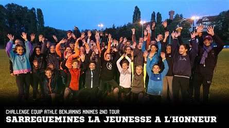 CHALLENGE EQUIP'ATHLE BENJAMINS MINIMES 2ND TOUR